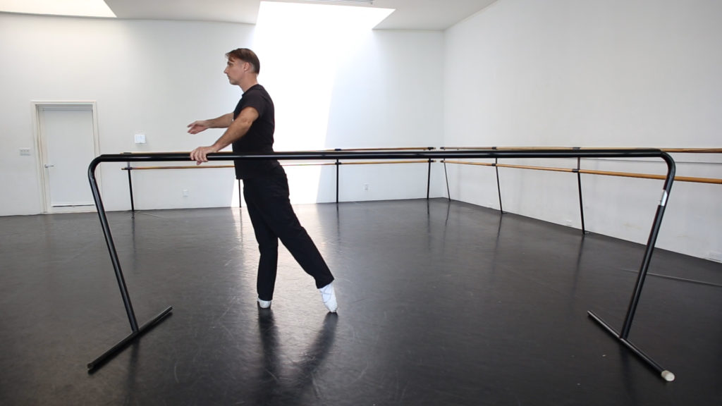 Proper ballet barre arm placement
