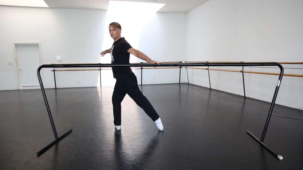 Improper ballet barre arm placement