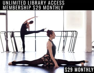 ballet class streaming library membership banner ad