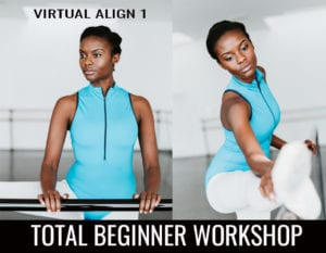 Virtual Align 1 Total Beginners Workshop Banner Ad.